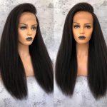 Kinky straight 13×4 lace wig
