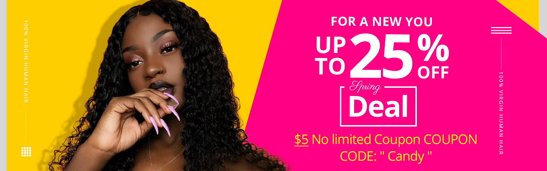 recool human hair weave spring deal