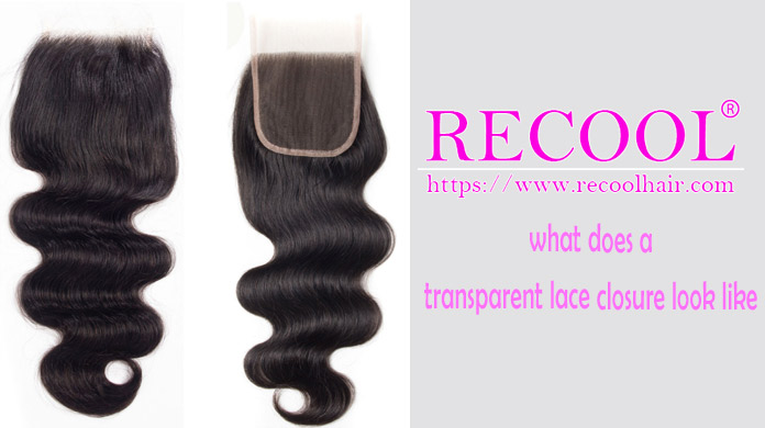 what does a transparent lace closure look like