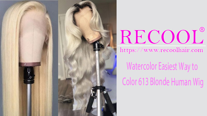 Watercolor Easiest Way to Color 613 Blonde Human Wig