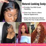 Straight 13×6 lace front wig
