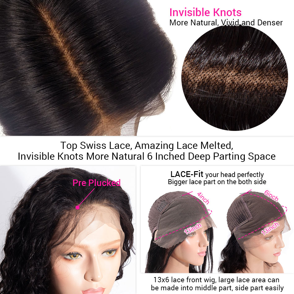 13x6 water wave lace front wig