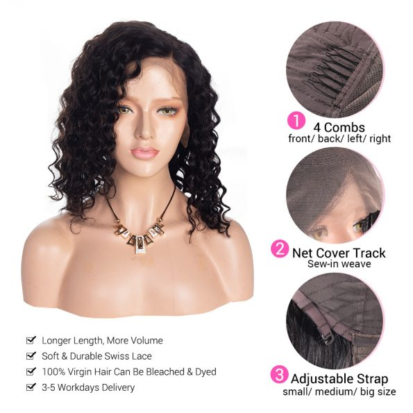water short lace wig