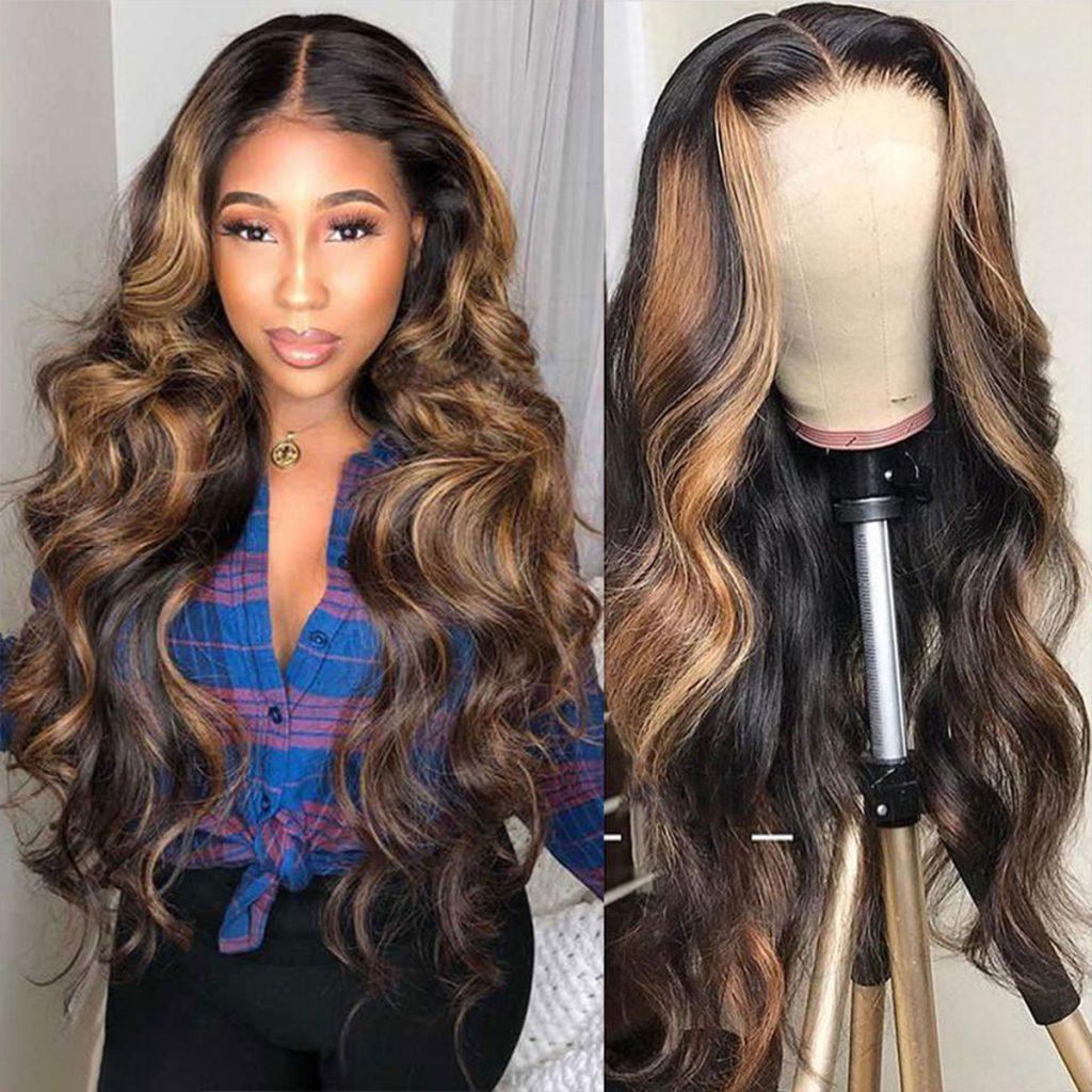 highlight body wave wig