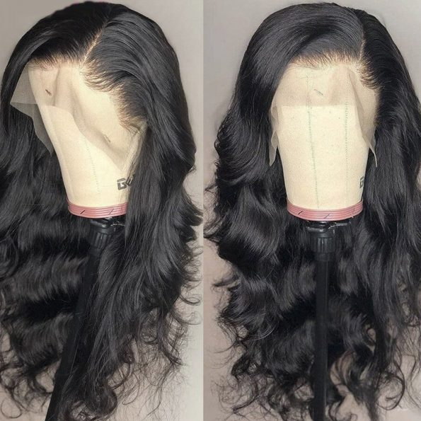 transaprent lace body wave wig 1