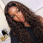 highlight water wave wig