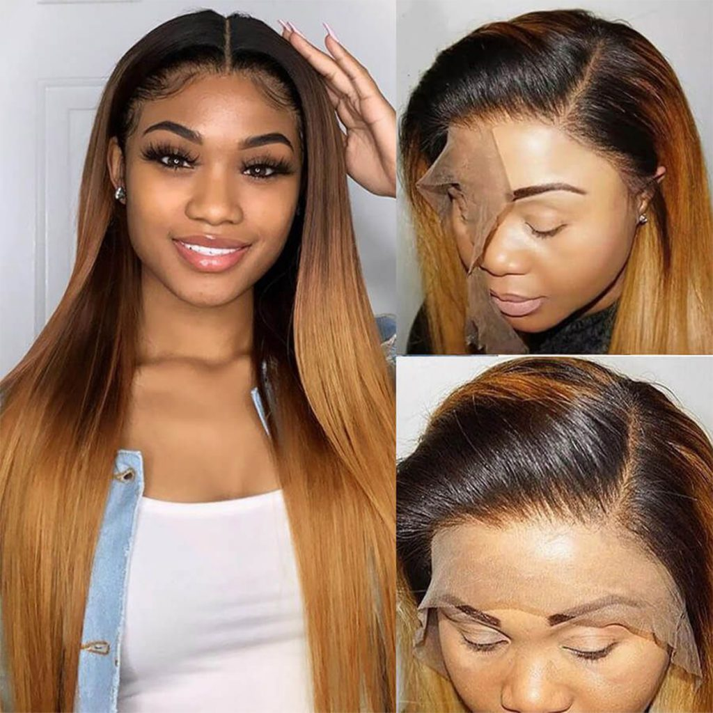 1b 27 ombre straight wig