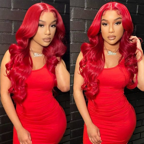 recool red body wave wig (2)