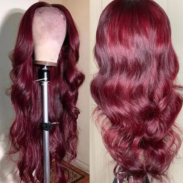 body wave 99j 5×5 lace wig (2)