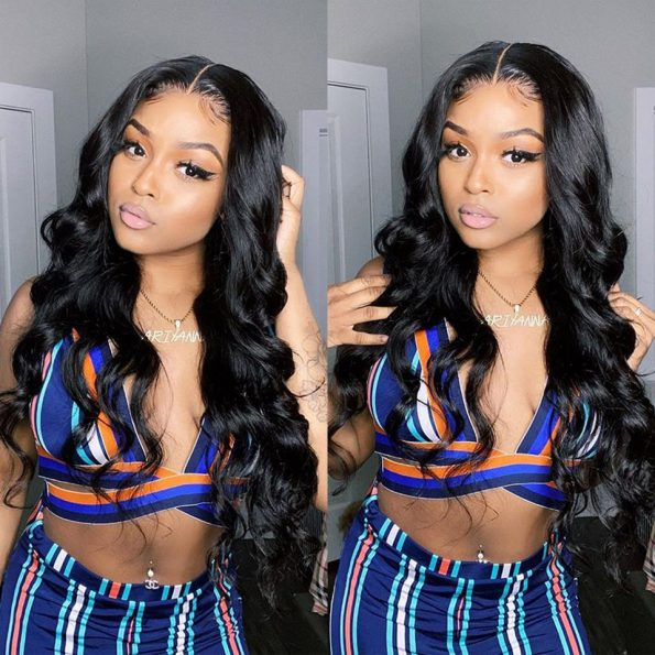 body wave HD lace closure wig (2)
