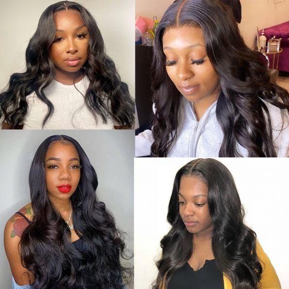 body wave HD lace closure wig (5)