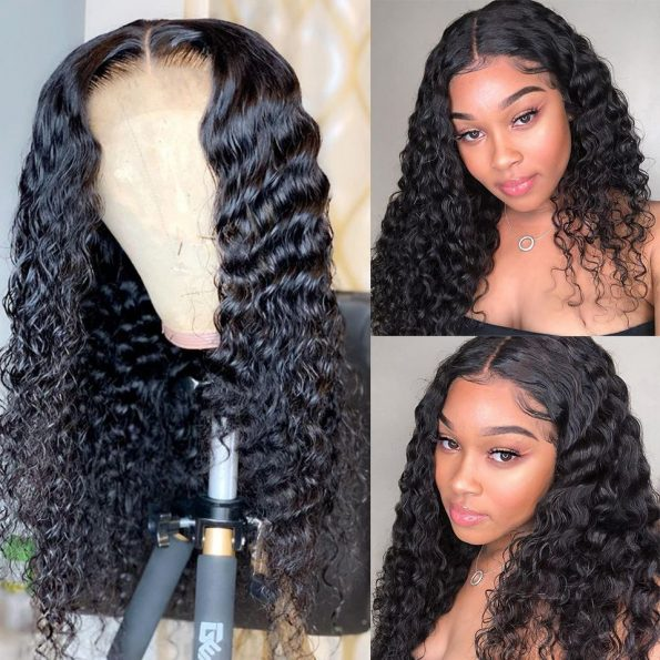 deep wave HD lace closure wig (2)