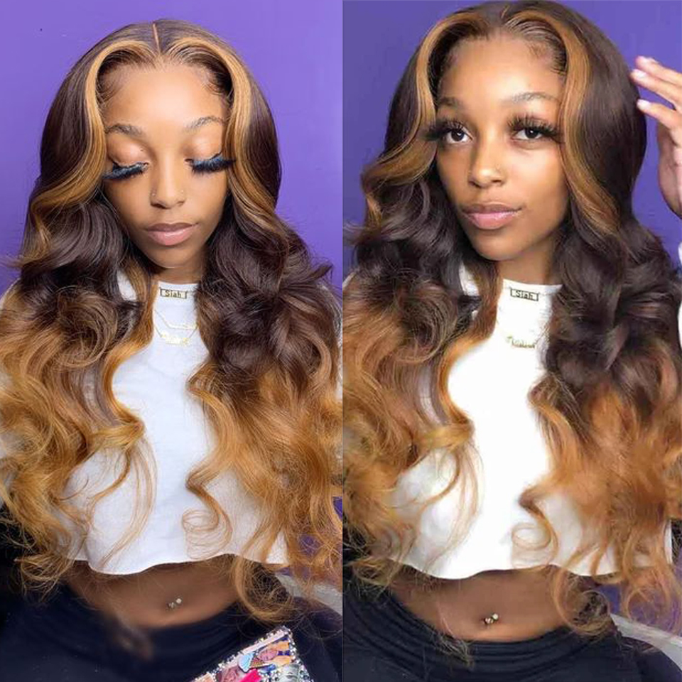 ombre wig with highlights
