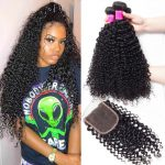 Brazilian curly 3 bundles with closure